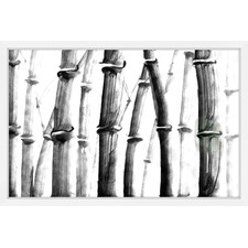Bamboo Field Framed Painting Print