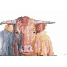 Buffalo Moka Wrapped Canvas Painting Print