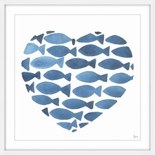 Lovely Fishes Framed Painting Print