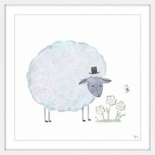 Noble Sheep Framed Painting Print