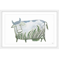 Mama Vache Framed Painting Print