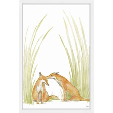 Foxy Love Framed Painting Print