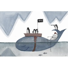 Arctic Pirates Wrapped Canvas Painting Print