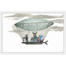 Globetrotters Framed Painting Print