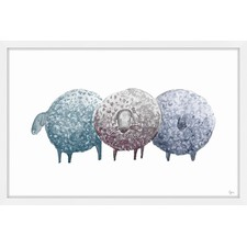 Trois Mouton Framed Painting Print