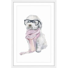 Parisian Dog Framed Painting Print
