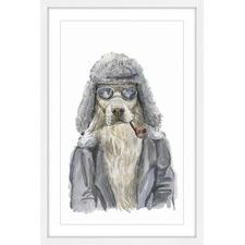 Alaskan Dog Framed Painting Print