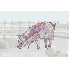 Como Cerdo Wrapped Canvas Painting Print