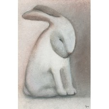 Rabbit Reflexion Wrapped Canvas Painting Print