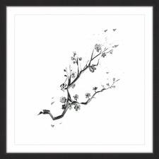 Cherry Blossom Branch Framed Painting Print
