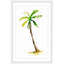 Leaning Palm Framed Painting Print