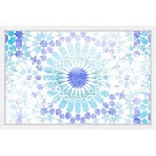 Aqua Mandala Framed Wall Art