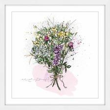 Bouquet Avec Corde Framed Wall Art