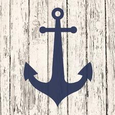 Blue Anchor Canvas Wall Art