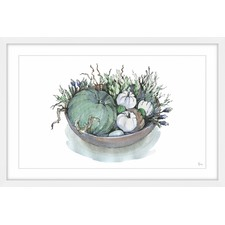 Cucurbits Basket Framed Wall Art