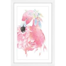 Pink Flamingo Framed Wall Art