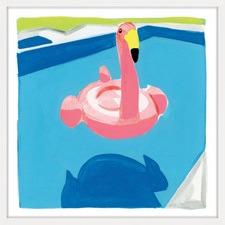 Pool Float Framed Wall Art
