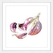 Garlic Clove Framed Wall Art