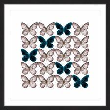 Butterfly Pattern Framed Print