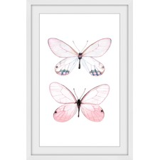 Pink Pair Framed Print