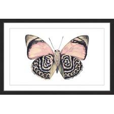 Artsy Pink & Black Wings Framed Print