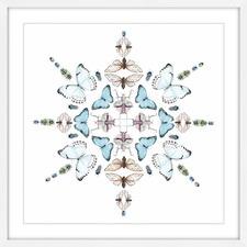 Butterfly Kaleidoscope Framed Print
