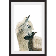 Mama Llama Framed Print