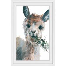 Munching Llama Framed Print