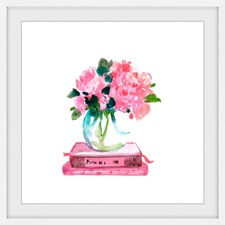 Pink Books Framed Print
