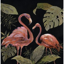 Flamingo Sweetheart III Canvas Wall Art