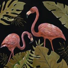 Flamingos Sweetheart I Canvas Wall Art