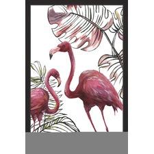 Tropical Flamingos I Framed Print