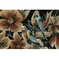 Bronzing Bird Couple I Canvas Wall Art