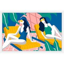 Women on Vacation Framed Print