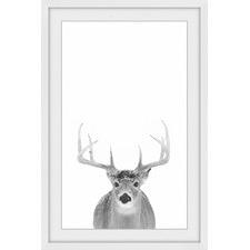 Grey Deer III Framed Print