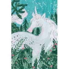 Unicorn at Night Canvas Wall Art