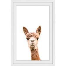 Llama Face IV Framed Print