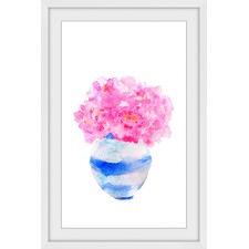 Bushy Pink Vase Framed Print