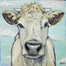When Cows Fly Art Print on Canvas