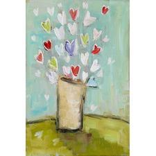 Simple Bouquet Art Print on Canvas