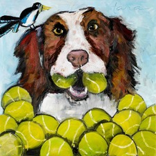 Tara Likes Tennis Art Print on Canvas
