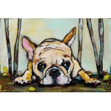Smushy Art Print on Canvas