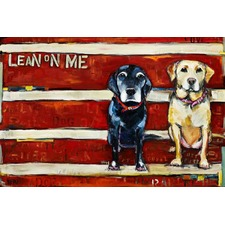 Lean On Me Art Print on Canvas