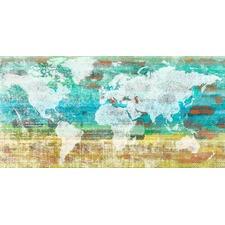 Aqua Day Art Print on Canvas