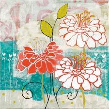 Orange Dahlia 2 Art Print on Canvas