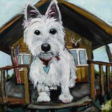 Dash In Cabin Art Print on Canvas