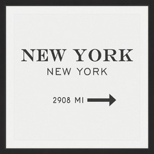 New York 2908 MI Framed Print