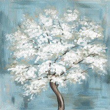 Callery Pear Blossoms Canvas Wall Art