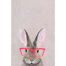 Hare with Red Glasses Canvas Wall Art
