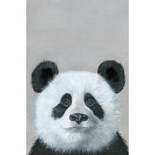 Panda in Deep Thought Canvas Wall Art